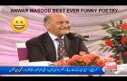 Anwar Masood Beautiful Funny Poetry at UOL 2013
