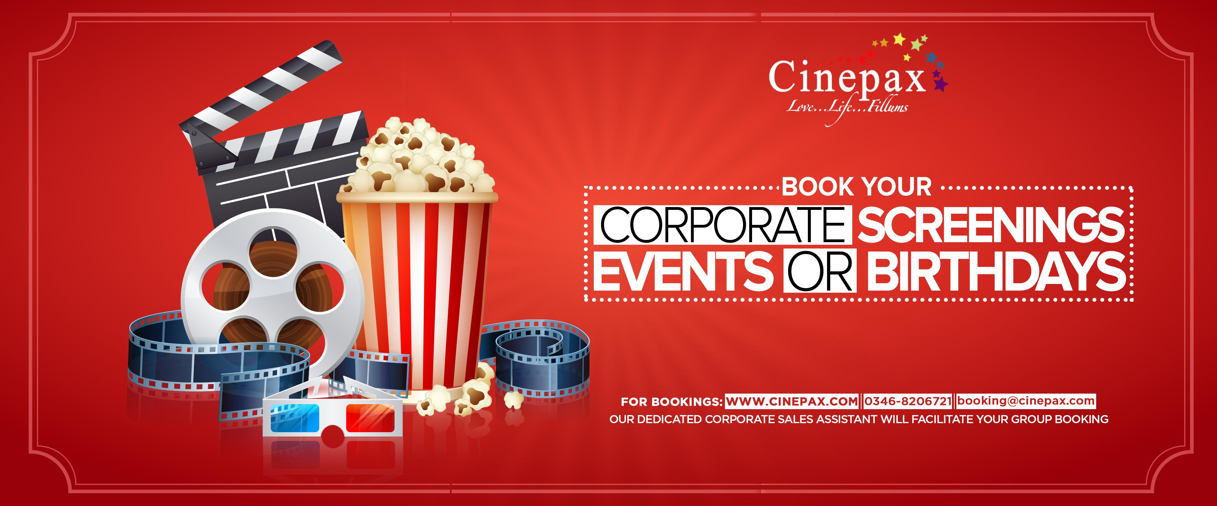 Cinepax Cinema Ocean Mall Corporate Screenings, Events And Birthdays