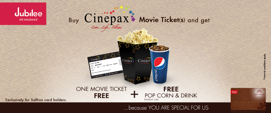 Cinepax Cinema Ocean Mall Jubilee Saffron Offer