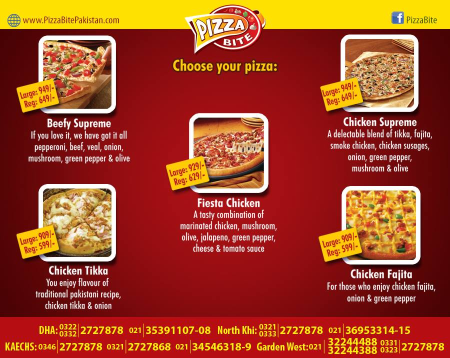 Pizza Bite Karachi Menu 1