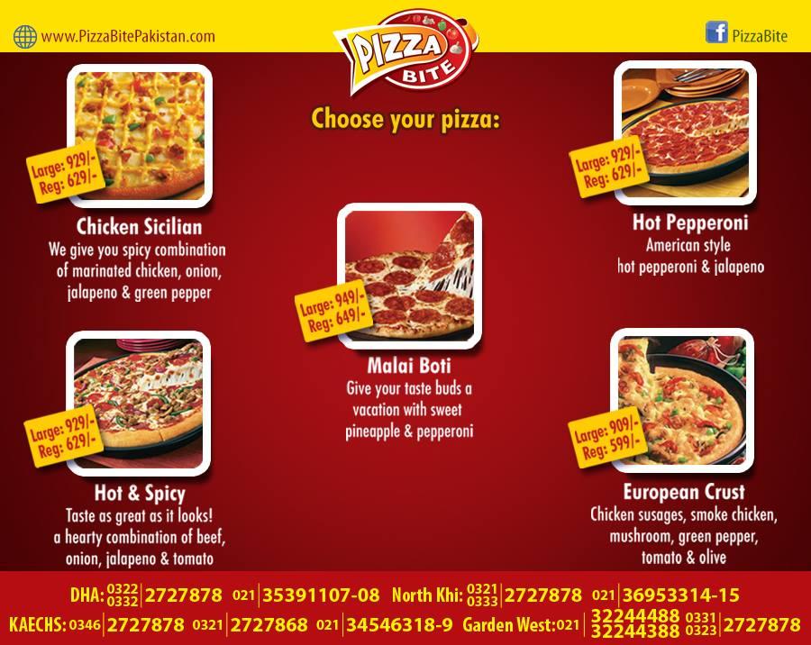 Pizza Bite Karachi Menu 2