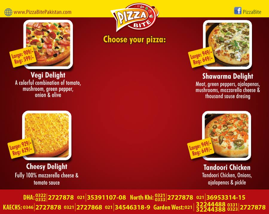 Pizza Bite Karachi Menu 3