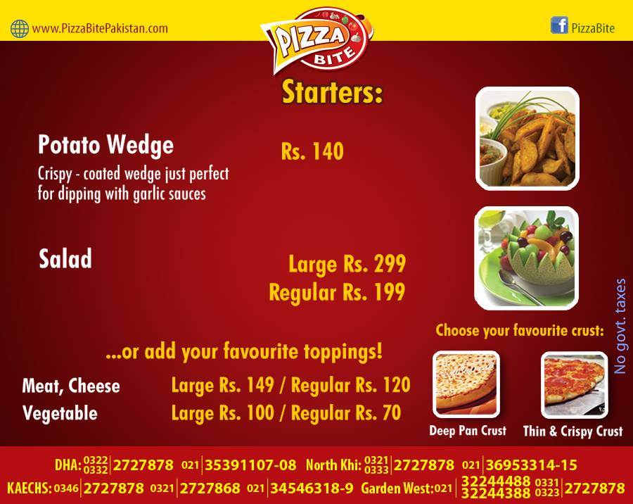 Pizza Bite Karachi Starters Menu 2