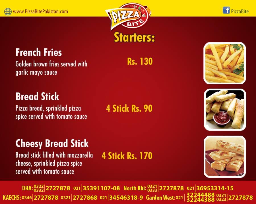 Pizza Bite Karachi Starters Menu 3