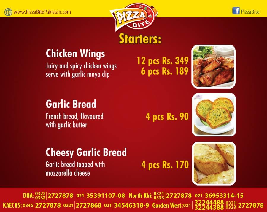 Pizza Bite Karachi Starters Menu