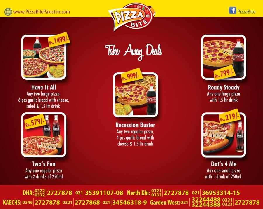 Pizza Bite Karachi Take Away Deal