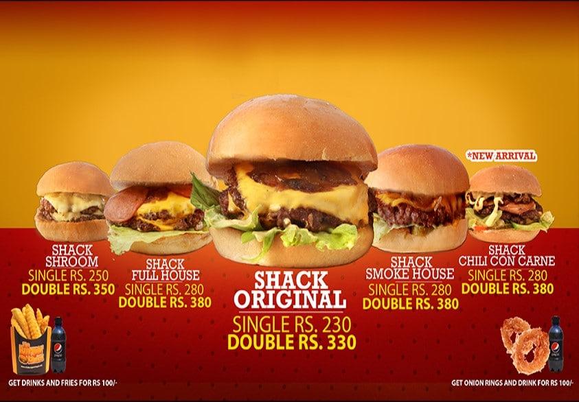 The Burger Shack Menu 001