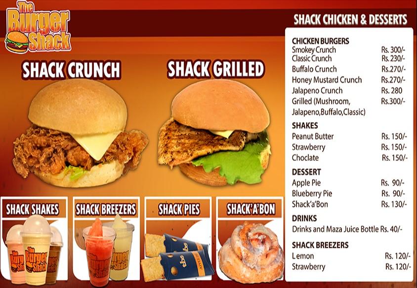 The Burger Shack Menu 003
