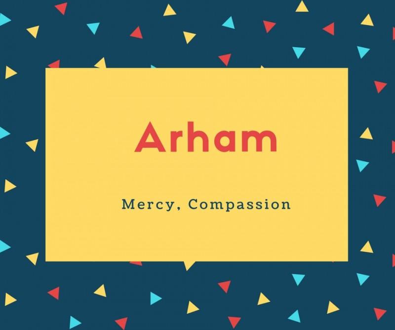 What Is Arham Name Meaning In Urdu